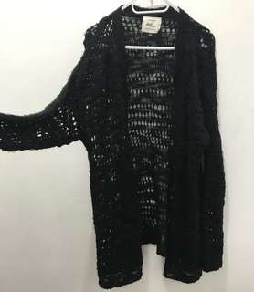 Cotton On long black knitted cardigan