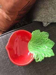 Cute Ceramic Trinket Holder (Red Turnip/Radish)