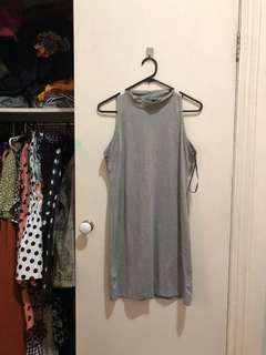 Mock Turtle Grey Dress