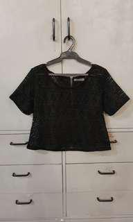 Cute black Maldita top