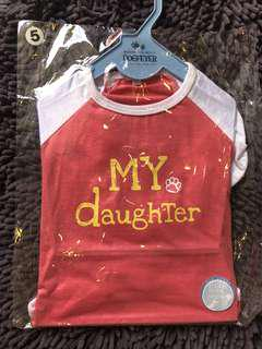 🚚 Dogfever 'My daughter' dog tee clothing