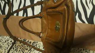 Anne klein 2 way brown leather bag