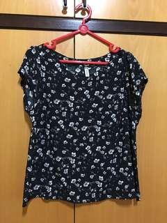 Women's Flower Blouse (black)