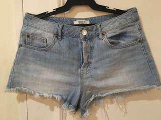 [Forever 21] Denim high-waist shorts