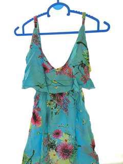 Local Brand - Blue Flowery Dress ( baju bali )