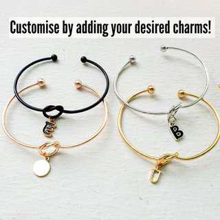 Personalised knot bracelets