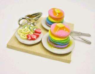 Miniature Food Rainbow Pancakes