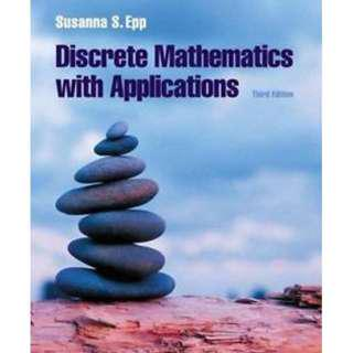 Discrete Mathematics with Applications by Susanna S. Epp, International 3rd Edition, Thomson Brooks/Cole (Hardcover)