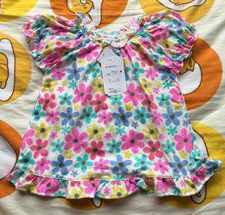 全新日本西松屋 女孩 女童 短袖T恤 衫 Size 100