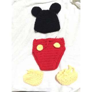 Baby's Mickey Mouse Crochet Costume