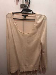 Forever 21 Peach Sweater (thin)