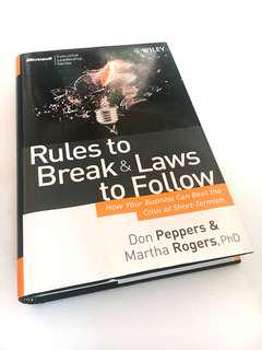 Rules to Break & Laws to Follow (PRICE REDUCED)