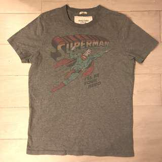 Abercrombie & Fitch MENS Grey Superman tee size L