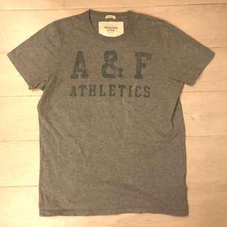 Abercrombie & Fitch Muscle Tee Mens Size Large L Grey