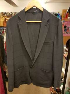 Hermes Men 50 gray wool blazer jacket