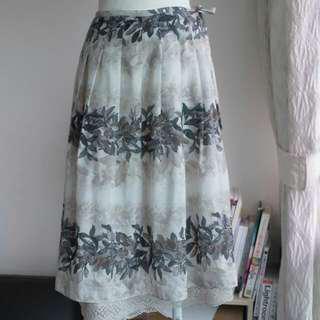 購自日本品牌smart pink人造纖維可拆內裡半裙