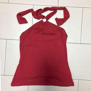 Portmans Red Halterneck Top