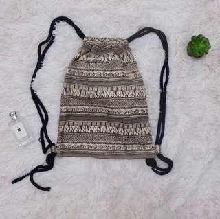 Aztec drawstring bag