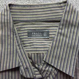 Prada men's  Stripy shirt 間條恤衫
