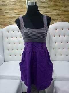 Stripes and violet jumper dress