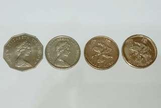 上品罕見4款 由古女皇頭至今洋紫荊 五元銀幣