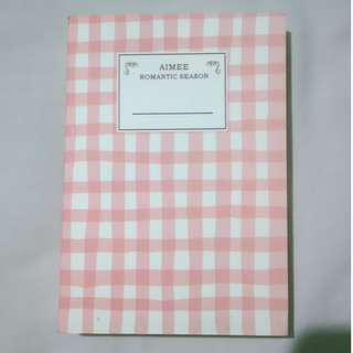 Small Pink Ruled Notebook