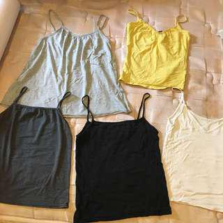$10 for all 5 Camisole 吊帶背心