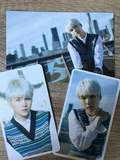 bts suga d-icon mag postcard+cards