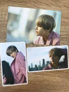 bts v d-icon postcard+cards