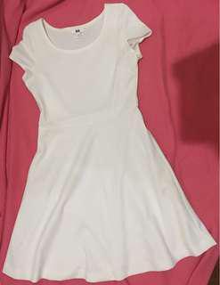 [Uniqlo] White Flare Dress