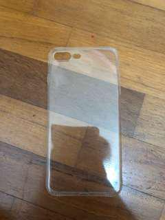 iPhone 7/8+ clear jelly phone case