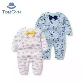 2pcs Long-Sleeved Baby Sleepsuits