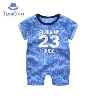 Summer Baby Boy Blue Onesie