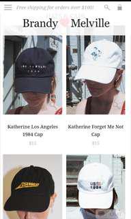 LF/ISO ANY BRANDY CAP Brandy Melville Snapback Dad Hat Caps