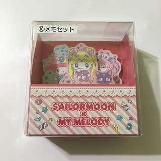 Japan Tokyo Sanrio Melody x Sailor Moon 一番抽 10號獎 Memo Notes 便條紙 有3款紙樣 每款40張