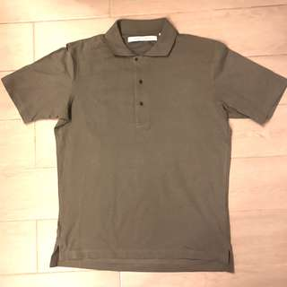 99% new Uniqlo x Lemaire Olive Polo shirt slim fit size L