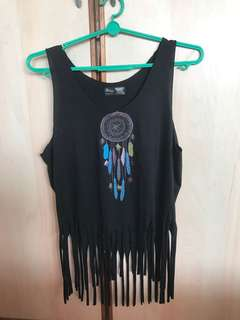 🚚 Free mailing! Dream Catcher Black Tank Top