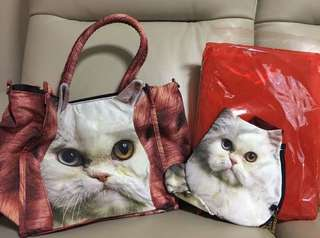 清貨 超平 日本雜誌 cat 貓貓 手挽袋 連 散紙包 $80(最後一套)