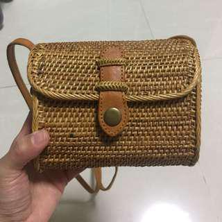 Drumpet Rattan Bag