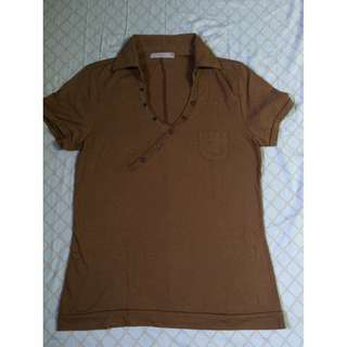 Stretchable Brown Collared Shirt