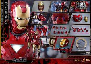 Hot Toys Mark 6 1/6th scale Diecast Collectible Figure