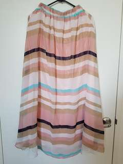 Multicolour Chiffon Maxi Skirt