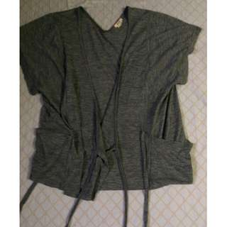 Cotton Stringed Cover Up Sweater