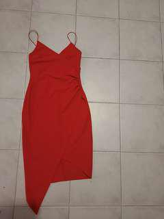 Red showpo / princess polly / beginning boutique dress size 8