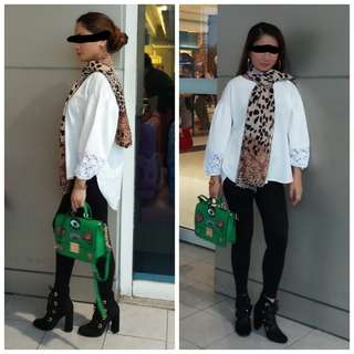 Long back loose blouse