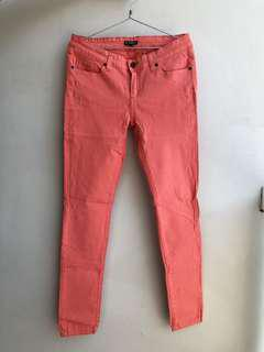 Celana jeans colorbox peach