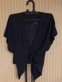 Shopataleen Kimono Black Stripe