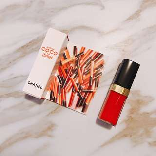$128 chanel ROUGE COCO GLOSS 752橙紅色 柔潤水漾唇彩 2.5g trial tester 試用裝💄