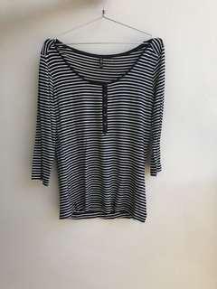 Stripe Shirt Hitam