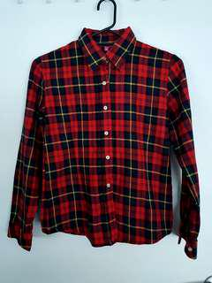 Flannel / Checkered Red and Black Shirt